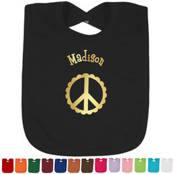 Peace Sign Foil Toddler Bibs (Select Foil Color) (Personalized)