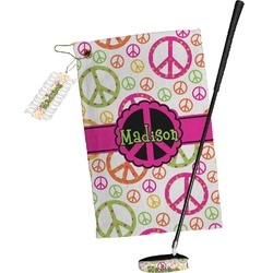 Peace Sign Golf Towel Gift Set (Personalized)