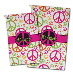 Peace Sign Golf Towel - Full Print w/ Name or Text