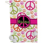 Peace Sign Golf Towel - Full Print (Personalized)