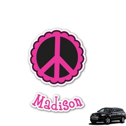 Peace Sign Graphic Car Decal (Personalized)