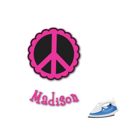 Peace Sign Graphic Iron On Transfer (Personalized)