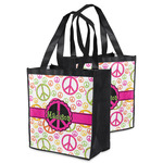 Peace Sign Grocery Bag (Personalized)
