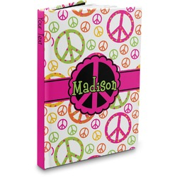 Peace Sign Hardbound Journal (Personalized)