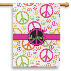 """Peace Sign 28"""" House Flag (Personalized)"""
