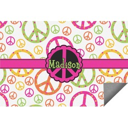 Peace Sign Indoor / Outdoor Rug (Personalized)