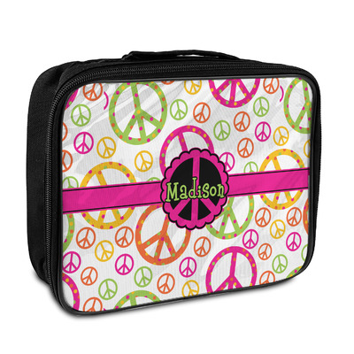 Peace Sign Insulated Lunch Bag (Personalized)