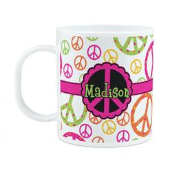Peace Sign Plastic Kids Mug (Personalized)