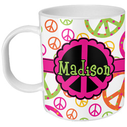 Peace Sign Plastic Kids Mug (Personalized)
