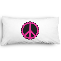 Peace Sign Pillow Case - King - Graphic (Personalized)