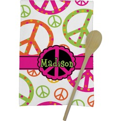 Peace Sign Kitchen Towel - Full Print (Personalized)