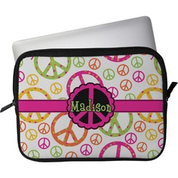 """Peace Sign Laptop Sleeve / Case - 12"""" (Personalized)"""