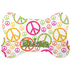 Peace Sign Bone Shaped Dog Food Mat (Personalized)