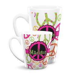 Peace Sign Latte Mug (Personalized)