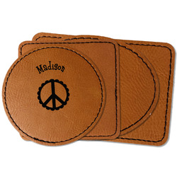 Peace Sign Faux Leather Iron On Patch (Personalized)