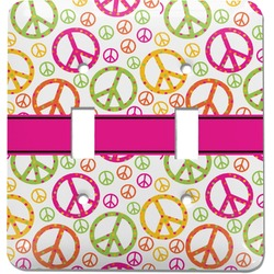 Peace Sign Light Switch Cover (2 Toggle Plate) (Personalized)