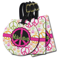 Peace Sign Plastic Luggage Tags (Personalized)