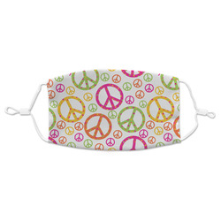 Peace Sign Adult Cloth Face Mask (Personalized)