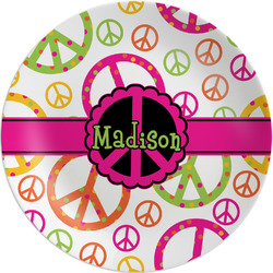 Peace Sign Melamine Plate - 8
