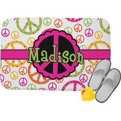 Peace Sign Memory Foam Bath Mat (Personalized)