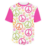 Peace Sign Men's Crew T-Shirt (Personalized)