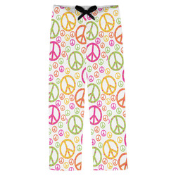 Peace Sign Mens Pajama Pants (Personalized)