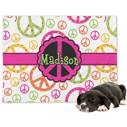 Peace Sign Minky Dog Blanket (Personalized)
