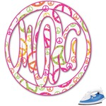 Peace Sign Monogram Iron On Transfer (Personalized)