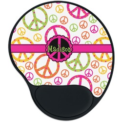 Peace Sign Mouse Pad with Wrist Support