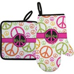 Peace Sign Oven Mitt & Pot Holder (Personalized)
