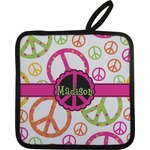 Peace Sign Pot Holder w/ Name or Text