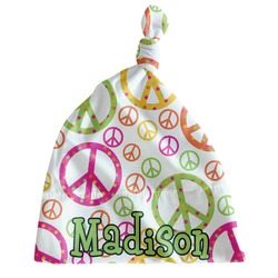 Peace Sign Newborn Hat - Knotted (Personalized)