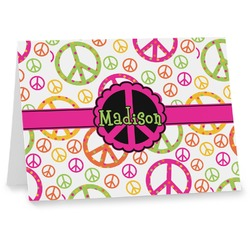 Peace Sign Notecards (Personalized)