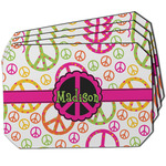 Peace Sign Dining Table Mat - Octagon w/ Name or Text