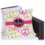 Peace Sign Outdoor Pillow (Personalized)