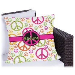 "Peace Sign Outdoor Pillow - 20"" (Personalized)"