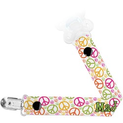 Peace Sign Pacifier Clips (Personalized)
