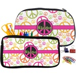 Peace Sign Pencil / School Supplies Bag (Personalized)
