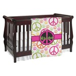 Peace Sign Baby Blanket (Personalized)