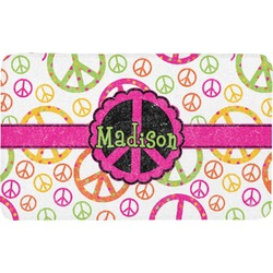 Peace Sign Bath Mat (Personalized)