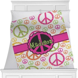 Peace Sign Minky Blanket (Personalized)