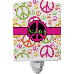 Peace Sign Ceramic Night Light (Personalized)