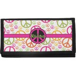 Peace Sign Canvas Checkbook Cover (Personalized)