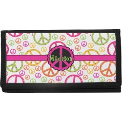 Peace Sign Checkbook Cover (Personalized)