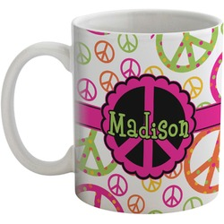 Peace Sign Coffee Mug (Personalized)