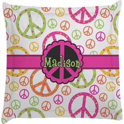 Peace Sign Euro Sham Pillow Case (Personalized)