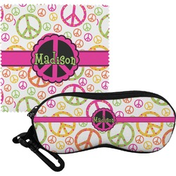 Peace Sign Eyeglass Case & Cloth (Personalized)