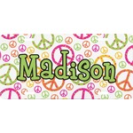Peace Sign Front License Plate (Personalized)