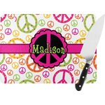 Peace Sign Rectangular Glass Cutting Board (Personalized)