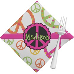 Peace Sign Cloth Napkins (Set of 4) (Personalized)